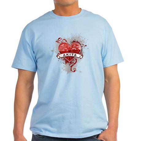 Heart Akita Light T-Shirt