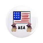 Patriotic USA Pug Dogs 3.5