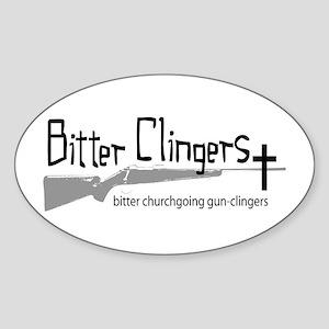Bitter Clingers Oval Sticker