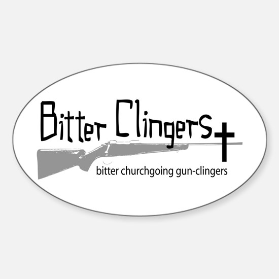 Bitter Clingers Oval Decal
