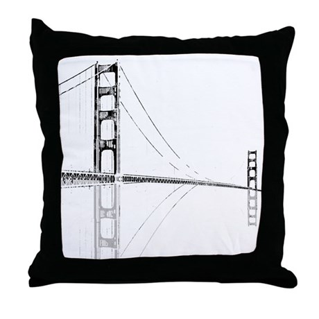 Golden Gate Faded Throw Pillow
