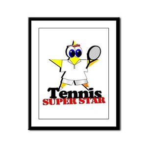 Tennis Star Framed Panel Print
