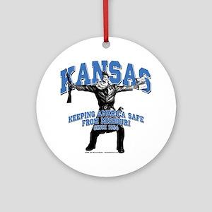 Kansas - Keeping America Safe... Ornament (Round)