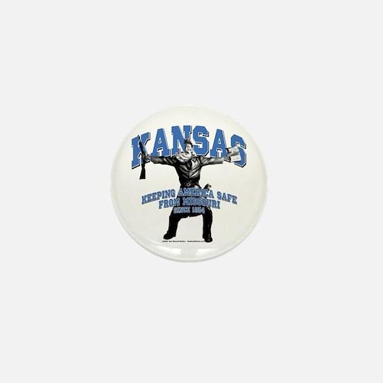 Kansas - Keeping America Safe... Mini Button