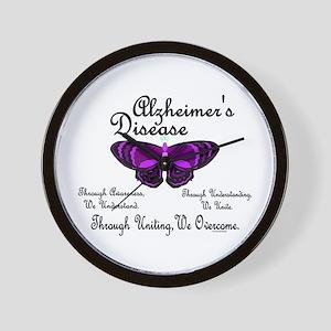 Butterfly Awareness 1 (Alzheimers) Wall Clock