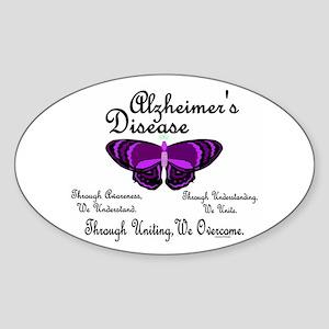 Butterfly Awareness 1 (Alzheimers) Oval Sticker