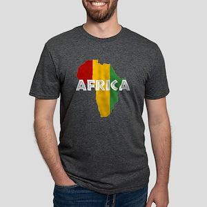 Africa Rasta on black T-Shirt