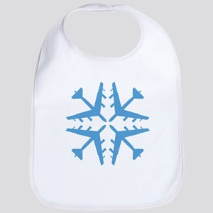 B-52 Aviation Snowflake Bib