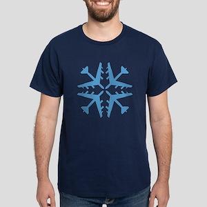B-52 Aviation Snowflake Dark T-Shirt