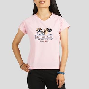 4b3e2da32 Funny Shih Tzu Christmas Women's Performance Dry T-Shirts - CafePress