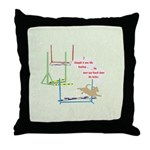 Agility Bowling Throw Pillow