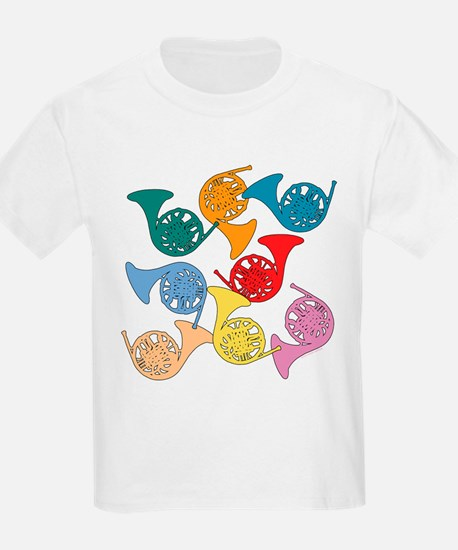Colorful French Horns Women's Dark T-Shirt