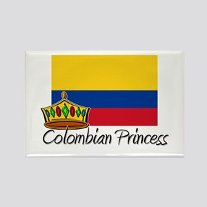 Colombian Princess Rectangle Magnet