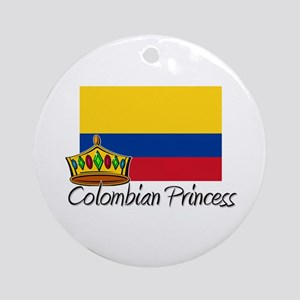 Colombian Princess Ornament (Round)
