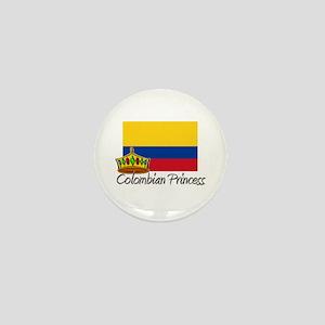 Colombian Princess Mini Button