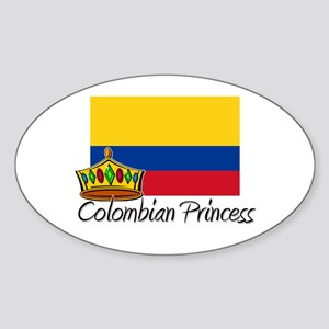 Colombian Princess Oval Sticker