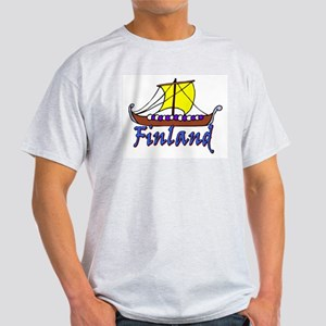 Viking Boat -1- Finland Ash Grey T-Shirt