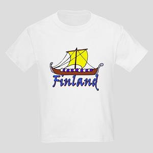 Viking Boat -1- Finland Kids T-Shirt