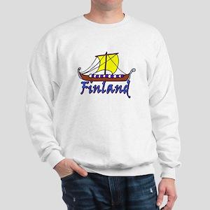 Viking Boat -1- Finland Sweatshirt