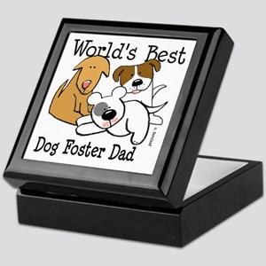 World's Best Dog Foster Dad Keepsake Box