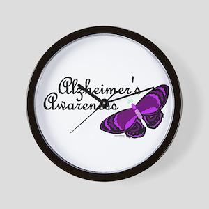 Butterfly Awareness 3 (Alzheimers) Wall Clock