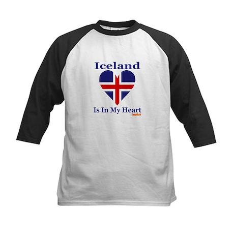 Iceland - Heart Kids Baseball Jersey