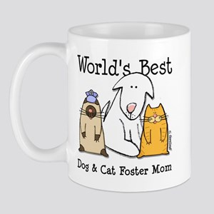 World's Best Dog, Cat Foster Mom Mug