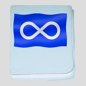 Metis Nation Flag Metis Gifts baby blanket
