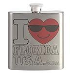 I Love Florida USA Flask