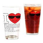 I Love Florida USA Drinking Glass
