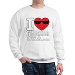 I Love Florida USA Sweatshirt