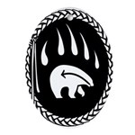 Native Art Gifts T-shirt Bear Claw Oval Ornament