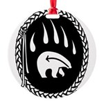 Tribal Bear Claw Round Ornament