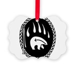 Tribal Bear Claw Picture Ornament