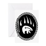 Native Art Gifts T-shirt Bear Claw Greeting Cards