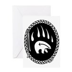 Tribal Bear Claw Greeting Card