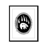 Native Art Gifts T-shirt Bear Claw Framed Panel Pr