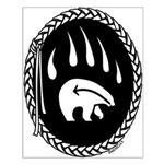 Native Art Gifts T-shirt Bear Claw Small Poster