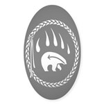 Tribal Bear Claw Sticker (Oval 10 pk)