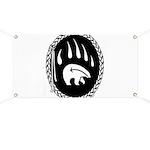 Native Art Gifts T-shirt Bear Claw Banner