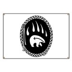 Tribal Bear Claw Banner
