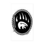 Tribal Bear Claw Sticker (Rectangle 50 pk)