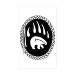 Tribal Bear Claw Sticker (Rectangle 10 pk)