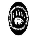 Native Art Gifts T-shirt Bear Claw Sticker