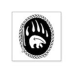 Tribal Bear Claw Square Sticker 3