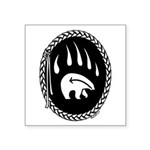 "Tribal Bear Claw Square Sticker 3"" x 3"""