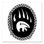 Tribal Bear Claw Square Car Magnet 3