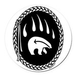 Tribal Bear Claw Round Car Magnet