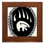Native Art Gifts T-shirt Bear Claw Framed Tile