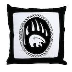 Native Art Gifts T-shirt Bear Claw Throw Pillow